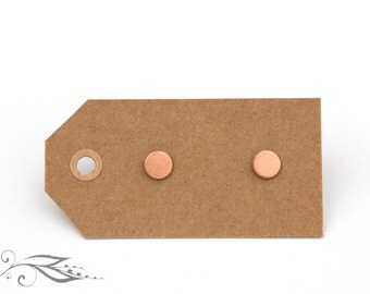Rosé micro circuits - hand-soldered studs 5 mm made of copper and stainless steel