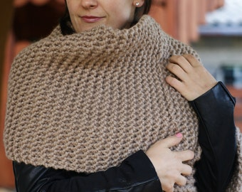Chunky Knit Scarf, Oversize Scarf, Wool Scarf, Lenny Kravitz Scarf, Chunky Scarf, Blanket Scarf