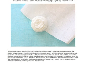 Shower Tab Recipe- Make Your Own Refreshing Natural Shower Bombs or Fizzies PDF