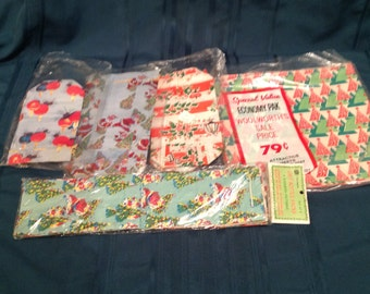 Christmas Vintage Wrapping Paper  Gift Bags