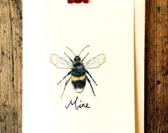 Bee mine valentines/love card