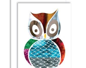 Owl Card 3
