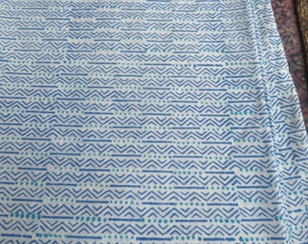 Blue And White Zig Zag Fabric