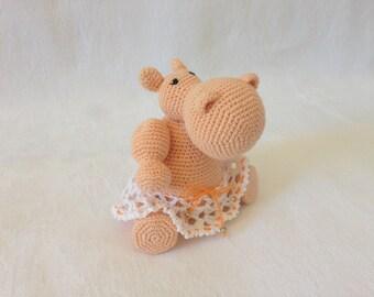 Amigurumi crochet toy Hippo