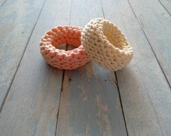 Knitted Handmade Bracelet, Cotton Bracelet, Textile Bracelet, Knit Bracelet