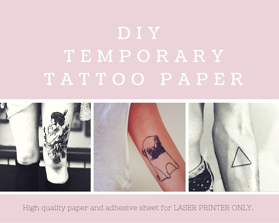 Diy temporary tattoo paper laser printer by for How to make temporary tattoos with printer
