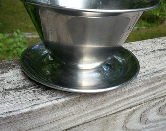 Stainless Danish/Scandinavian Modern bowl