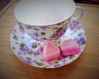 28 bicolored sugar cubes, handmade item, tea party favors .shower favors,  gift ideas.