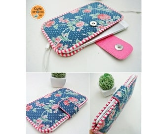 Night Blossom Smartphone Sleeve, Mobile Phone Pouch, Cellphone Cover, Mobile Phone Case, Traveller Gadget Organizer, Cover Me