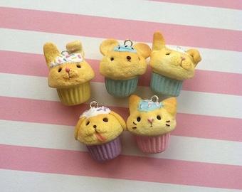 animal cupcake charms