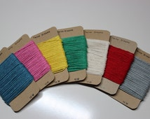 Beautiful Solid Colour Bakers Twine in Vibrant Colours. Premium Quality Cotton Bakers Twine, Packaging Twine, Craft Twine, Party Supplies
