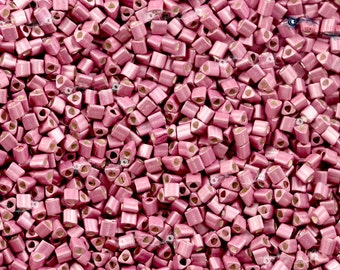 TOHO 11/0 Triangle Beads - Galvanized Matte Vintage Rose [TG-11-553F]