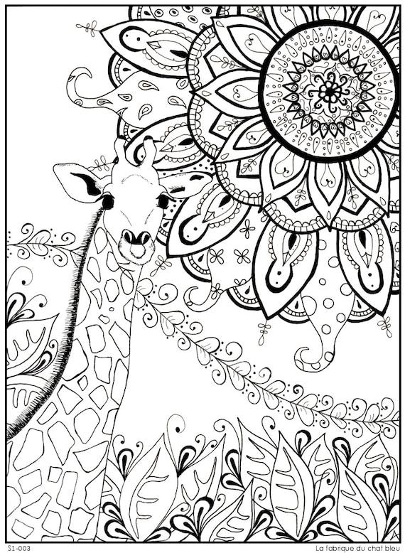 Giraffe mandala related keywords giraffe mandala long for Giraffe mandala coloring pages