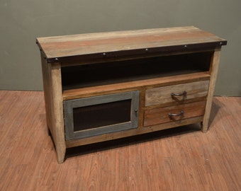 Industrial Rustic Reclaimed wood TV stand Media Console / Entertainment console