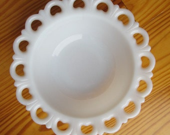Vintage #8 Milk Glass Wedding Bowl