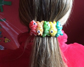 Barrette with real candy fish