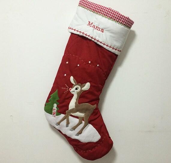 monogrammed christmas stocking christmas snowflake stockings funny christmas stockings ornaments - Monogrammed Christmas Stockings