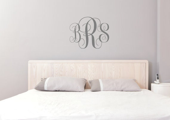 items similar to monogram letters nursery decal custom monogrammed wall decal initial wall