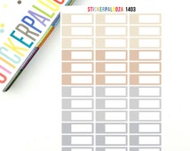 32 Appointment Headers, Neutral Quarter Boxes, Appointment Planner Stickers,  1403