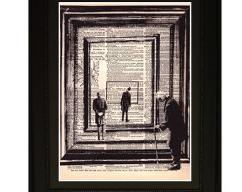 """Timeline"""".Dictionary Art Print. Vintage Upcycled Antique Book Page. Fits 8""""x10"""" frame"""