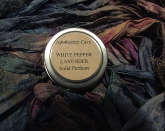 White Pepper and Lavender Solid Perfume