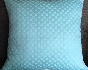 Mint seafoam Green Dot Geometric Decorative Pillow Cover Throw Pillow 18""