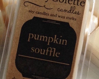 Pumpkin soufflé soy wax melt | dye free phthalate free | Eco Friendly soy way melts | fall scents | thanksgiving wax melts