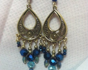 Chandelier Earring Blues