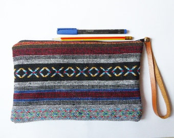 Ethnic Tribal zipper pouch,Coin Purse,clutch,pencil bag,pencil case,Makeup Bags,Cosmetic Bags,Back to School