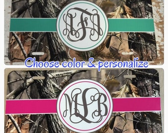 camouflage monogram license plate camouflage monogram car tag camo monogram car tag