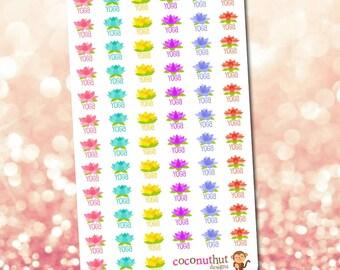 Lotus Yoga Planner Stickers