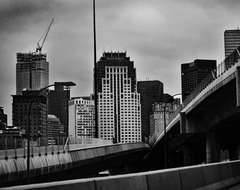 Boston, Massachusetts Underpass -- Black and White -- City Landscape -- Photo Print