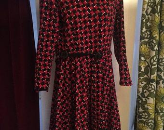 Vintage black and red dress