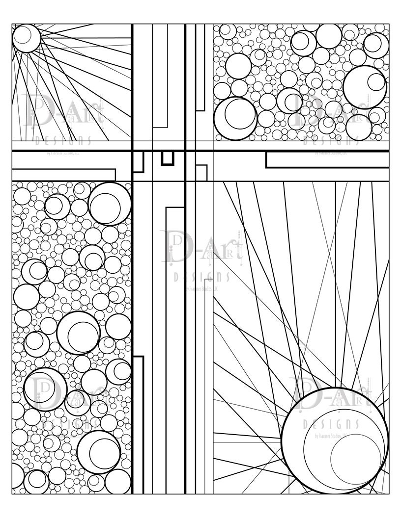 circles and lines coloring page coloring page cross