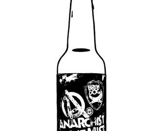 Brewdog - Anarchist Alchemist - Hand-drawn illustration print