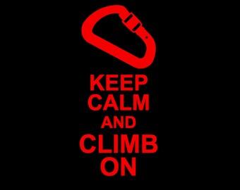 """Vinyl Car Decal - """"Keep Calm and Climb On"""""""