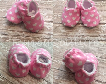 Sweetheart soft soled crib shoes
