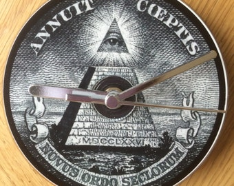 ALL SEEING EYE Cd Clock (Can  be Personalised)