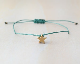 Star bracelet, little star bracelet, gold star bracelet, bracelet with star, tiny star, wish bracelet, dainty jewelry - sterling silver