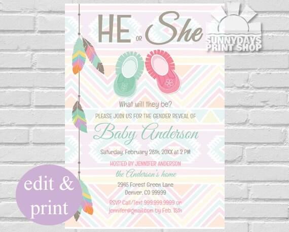 Gender reveal baby shower gender reveal invite gender reveal il570xn filmwisefo