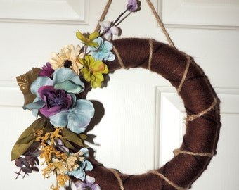 Mini Yarn Wreath