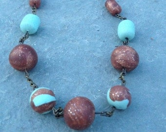 Classy and Modern Polymer Clay Necklace