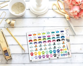 Assorted Cat Stickers || 73 Planner Stickers