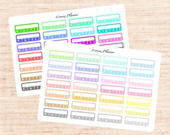 Habits Tracker Functional Basics (matte planner stickers, Erin Condren, Happy Planner)