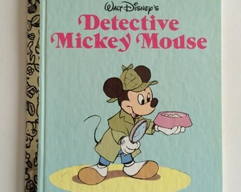1985 Little Golden  Detective Mickey Mouse Child's Story Book