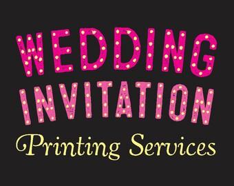 Wedding Invitation Printing Services
