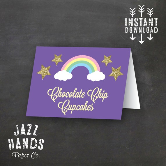 Items Similar To Unicorn Birthday Food Labels Template