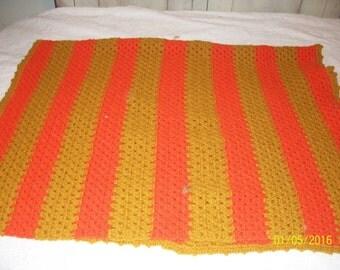 Orange and Gold Lap Blanket