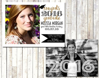 PHOTO GRADUATION INVITATION | Graduation Announcement