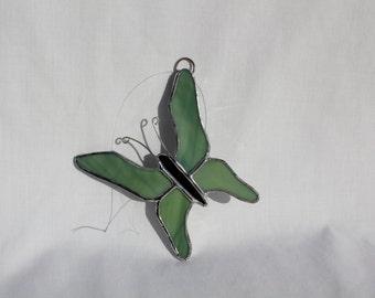 Stained Glass Butterfly Suncatcher - Butterfly - Stained Glass Suncatcher - Butterfly Suncatcher - Green Butterfly - Suncatcher - Ornament